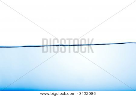 An abstract water surface with a few bubbles poster