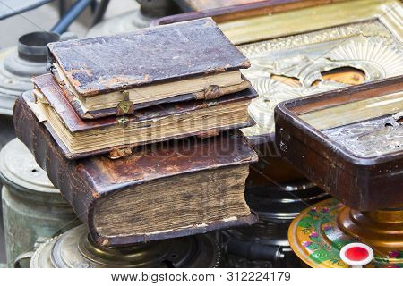 Ancient Books. Antiquarian Literature Sold On The Market