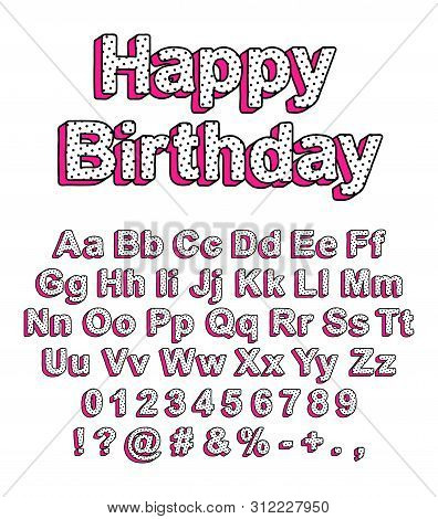 Cute Uppercase And Lowercase Letters In The Style Of Lol Doll Surprise. Ready Design Font For Decora