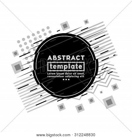 Abstract Background And Textures Design Template. Modern Hipster Memphis Style. Vector And Illustrat