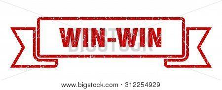 Win-win Grunge Ribbon. Win-win Sign. Win-win Banner