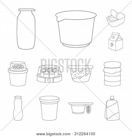 Isolated Object Of Calcium And Food Logo. Collection Of Calcium And Product Vector Icon For Stock.