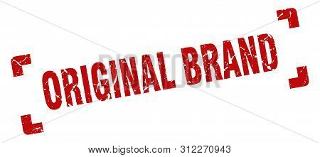 Original Brand Stamp. Original Brand Square Grunge Sign. Original Brand