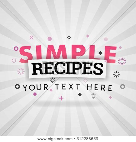 Pink Logo For Simple Recipes. For Recipe Websites, Food Blog, Today Recipes, Buy Food Mobile App, Fr