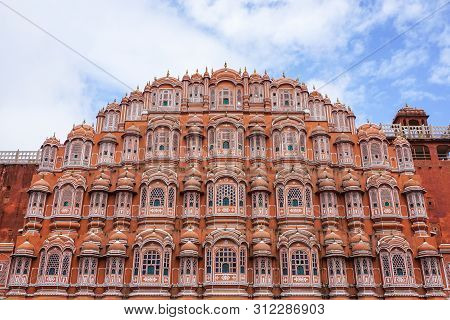 Jaipur, India - Oct 4, 2018: Facade Of Hawa Mahal (wind Palace) In Jaipur, India. Hawa Mahal, Also K