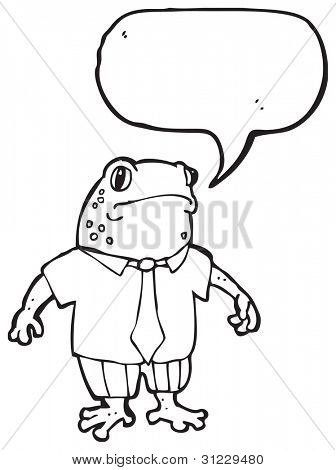 cartoon toad in shirt and tie poster