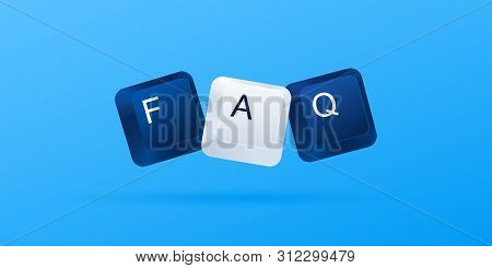 Faq Frequently Asked Questions . Faq Word Written With Computer Keyboard Buttons. Computer Keyboard