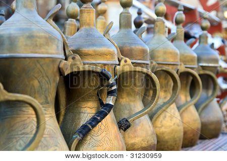 Arabic Tea Pots Lined Up
