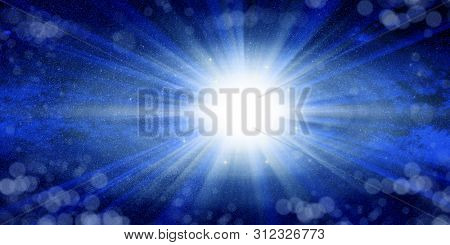 Conceptual background image of abstract lights of universe manipulation