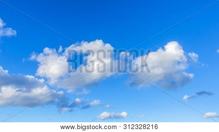 An image of a blue sky with clouds