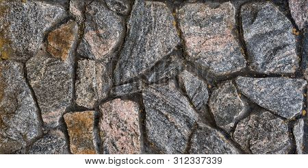 Old Wall Of Natural Stone. Abstract Background.
