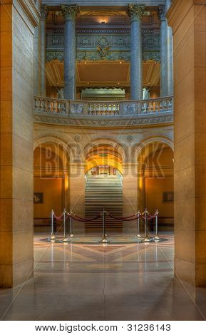 MN State Capitol Rotunda - viewed from East Corrider poster