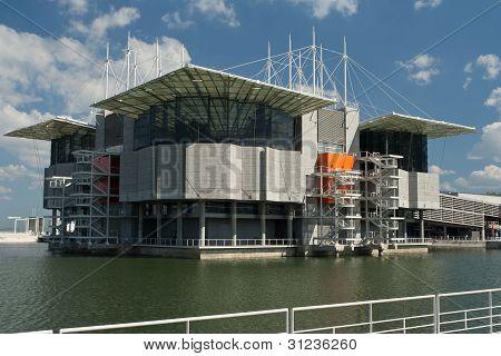 Oceanarium building, in Lisbon