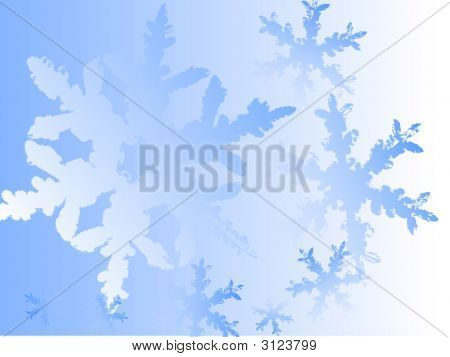 Ice Blue Snowflake Background