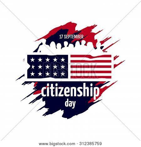 American Citizenship Day 17Th September Poster Design Vector Template