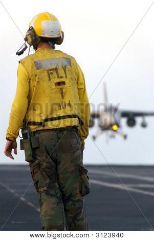 Sailor And Aircraft
