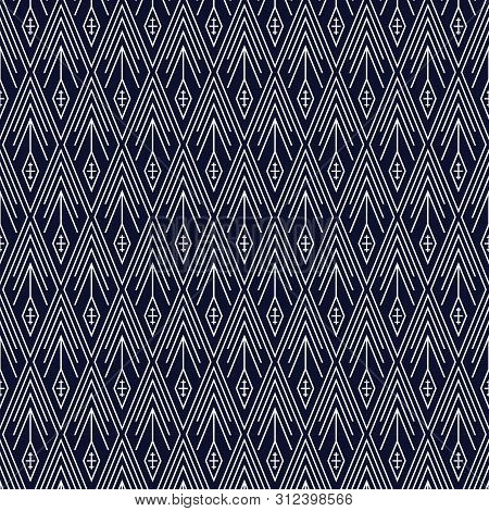Geometric ethnic pattern traditional Design for background,carpet,wallpaper,clothing,wrapping,Batik,fabric,sarong,Vector illustration embroidery style. poster