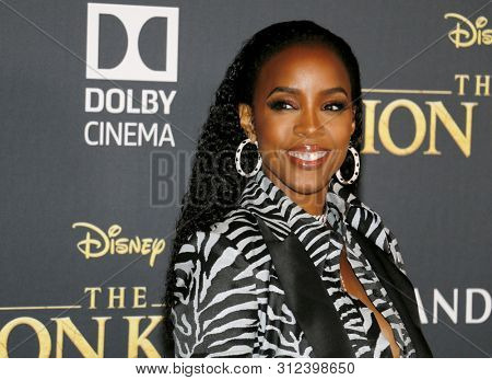 Kelly Rowland at the World premiere of 'The Lion King' held at the Dolby Theatre in Hollywood, USA on July 9, 2019.