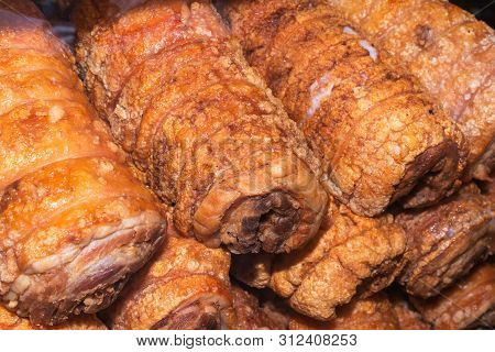 Deep Fried Crispy Belly Pork Or Streaky Pork.