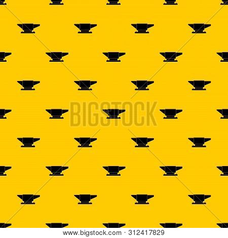 Anvil pattern seamless repeat geometric yellow for any design poster
