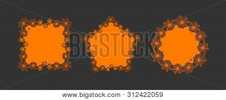 Lace Doily Lasercut Paper Halloween Theme Round Spiderweb And Spider Pattern Set Banner Doily For Ha