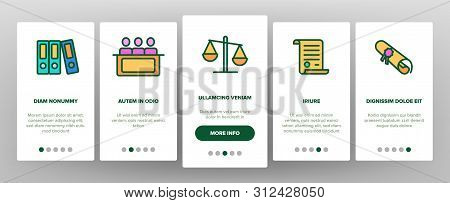 Judgement, Court Process Onboarding Mobile App Page Screen. Judgement, Trial Procedure Linear. Legal Accusation, Litigation. Crime Investigation, Verdict, Indictment Oars Illustrations poster
