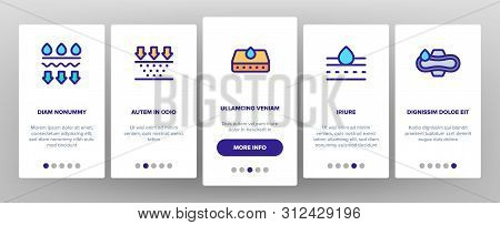 Absorbent, Absorbing Materials Onboarding Mobile App Page Screen. Absorbents For Moisture Control. A