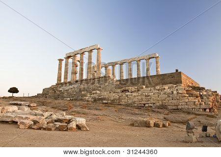 Cape Sounion In Greece