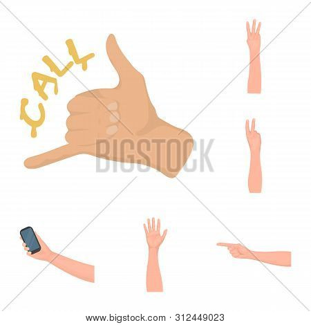 Isolated Object Of Animated And Thumb Logo. Collection Of Animated And Gesture Bitmap Icon For Stock