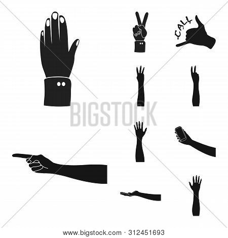 Bitmap Illustration Of Animated And Thumb Sign. Set Of Animated And Gesture Stock Bitmap Illustratio