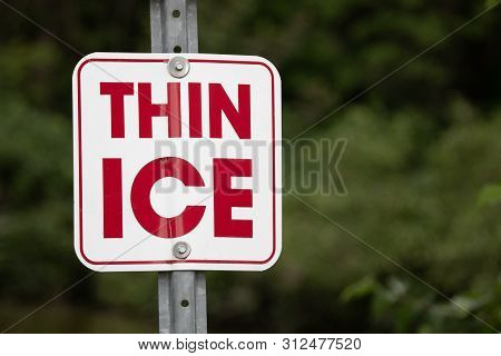 Symbols Signs Warnings Yield Rectangular Thin Ice Danger