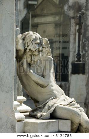 Sad Angel Statue - Recoleta Cemetery