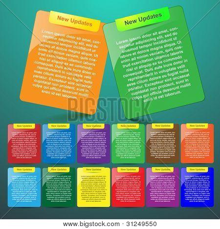 Design website elements, vector