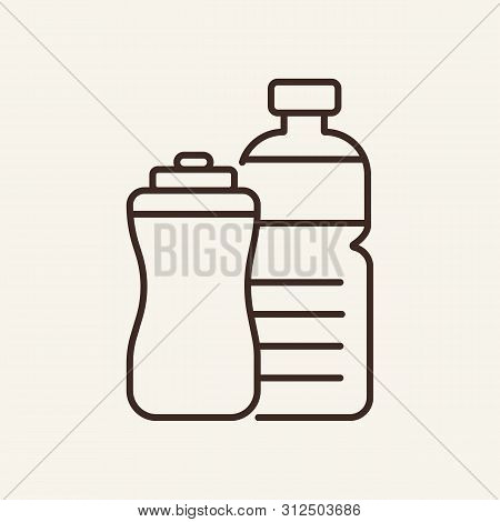 Sport Drinks Line Icon. Energy, Power, Gym. Sport Concept. Vector Illustration Can Be Used For Topic