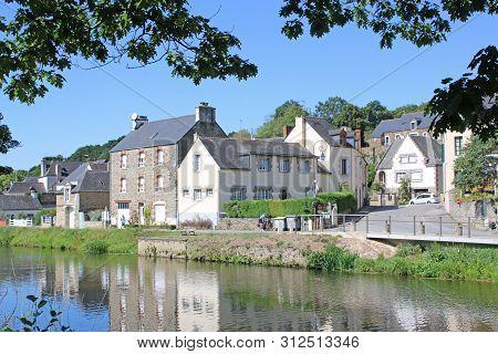 Josselin By The River Oust In France