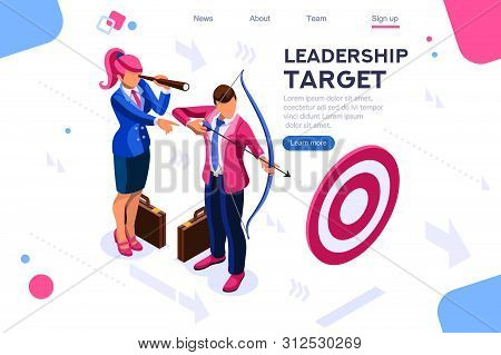 Running People, Target Forward. Leadership, Climbing Your Way, Job Action. Can Use For Web Banner, I