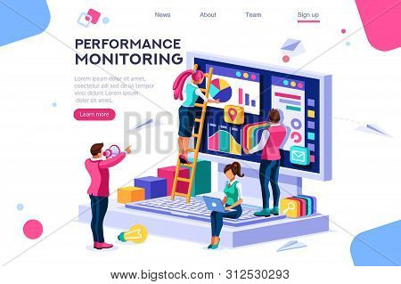 Abstract Ladder Presentation. Monitor Collection. Performance Of Simple Designer Building Monitor Ch