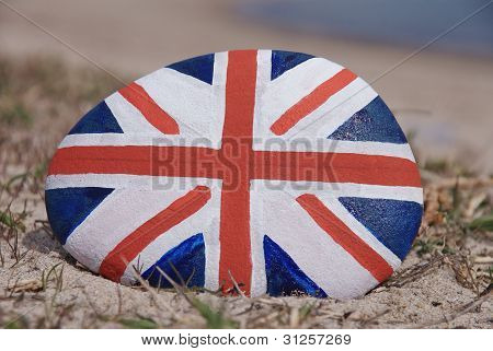 England flag painted on a stone