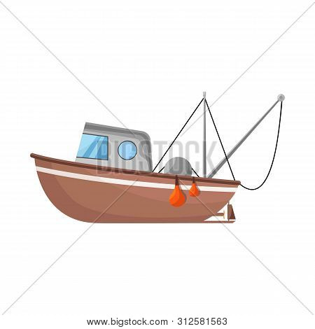Vector Design Of Fishery And Trawler Logo. Set Of Fishery And Naval Stock Vector Illustration.