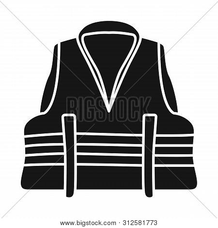 Vector Design Of Vest And Jacket Sign. Set Of Vest And Lifejacket Vector Icon For Stock.