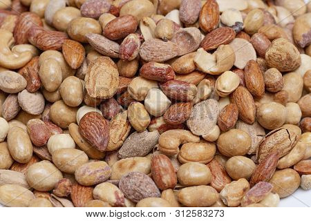 Natural Background Made From Different Kinds Of Nuts
