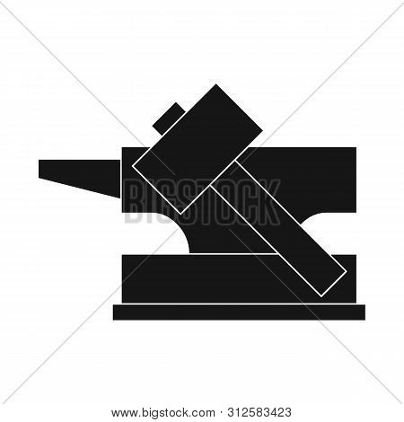 Vector Design Of Hammer And Hephaestus Symbol. Collection Of Hammer And Olympus Stock Symbol For Web