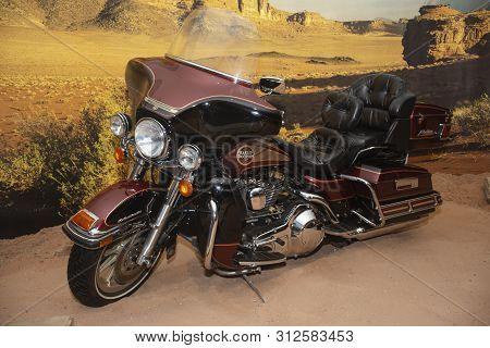 Amman, Jordan 17 June 2019 - Classic Motorbike In Royal Automobile Museum In Amman In Jordan