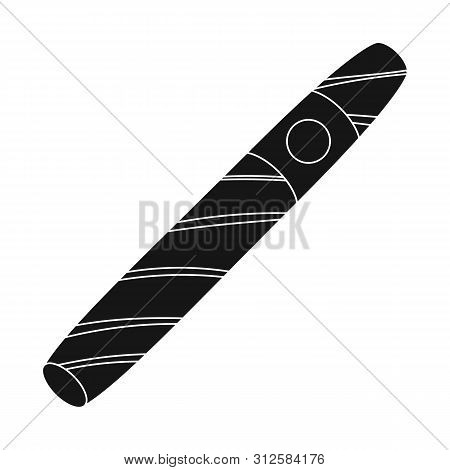 Isolated Object Of Cigar And Cuban Symbol. Collection Of Cigar And Nicotine Stock Vector Illustratio