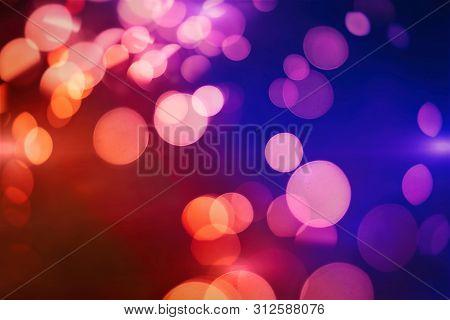 Sparkle Background De-focused Bokeh Abstract Christmas Copy Space Shimmering Blue Spotlights Defocus