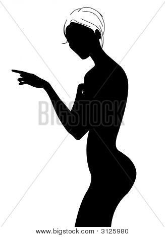 Nice Woman Silhouette