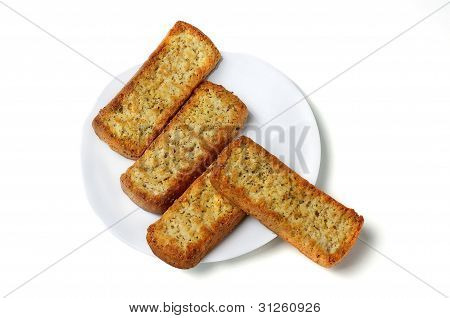 Crackers On A Plate.