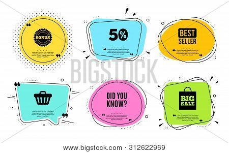 Did You Know. Best Seller, Quote Text. Special Offer Question Sign. Interesting Facts Symbol. Quotat