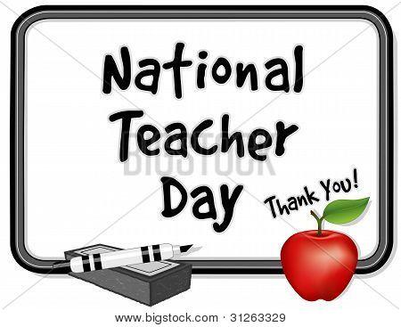National Teacher Day, Whiteboard, Apple