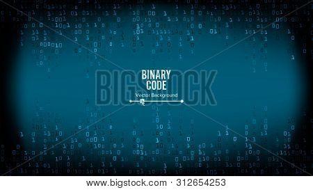 Binary Code Background . Algorithm Binary, Data Code, Decryption And Encoding